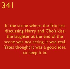 I think anyone who watched this could SEE that it wasn't scripted. The same with the laugh at the end of Rupert and Emma's kiss.