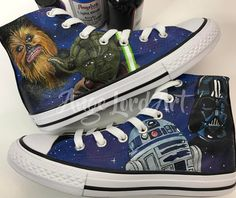 """de3a670aaa11 Ange Lord on Instagram  """"Star Wars inspired custom Converse  angelusdirect   angelusshoepolish  angeluspaint  angelus.paint  angelus  custom   custompainted…"""""""