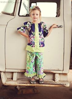 Water Bouquet   Peasant Top and Double Ruffle by PalmTreePrincess, $58.00