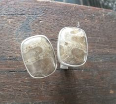 Exceptional Petoskey Stone Cufflinks Oxidized Sterling Silver Cuff Links on Etsy, $175.00