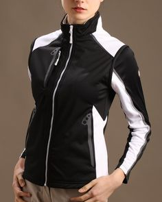 Check out what @lorisgolfshoppe has for your days on and off the golf course: Black/White Glen Echo Ladies Stretch Tech Water Repellent Full Zip Golf Vest