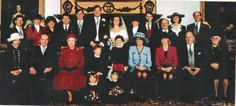 19 Dec 1992 The Queen and the Princess of Wales with guests at Highclare Parish church, Hampshire, where they were attending the wedding of Chica Bevan to Harry Herbert, a former Page of Honour to the Queen