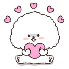 LINE Official Stickers - Pochacco: Animated Stickers Example with GIF Animation Black And White Chickens, Minimal Drawings, Family Stickers, Pochacco, Funny Expressions, Fluffy Puppies, Cute Love Pictures, Valentine Special, Line Sticker