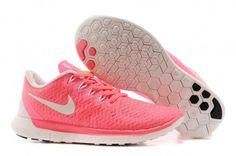 Nike Free 5.0+ Womens White Pink Running Shoes