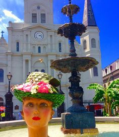 Summertime when the living is easy...... #moonshinenettie#vintagemannequin#mannequin#vintage#stlouiscathedral#frenchquarter#vintagehat#gorgeous#glamour#pinup#instagood #burlesque#vintagegirl#vintagelife#fountainofyouth#visual#pinupgirl#instafollow #fabulous#billyholiday #summertime#sunshine#dreambig by moonshinenettie