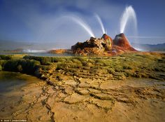 Geyser Hot Springs at Black Rock Desert in Nevada, USA Puerto Rico, Black Rock Desert, Landscape Wallpaper, Out Of This World, Yellowstone National Park, Free Travel, Natural Wonders, Beautiful Landscapes, Wonders Of The World