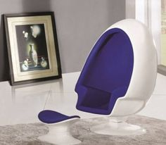 Finemod alpha egg chair and ottoman, blue Office Interior Design, Office Interiors, How To Relax Your Mind, World Poetry Day, Amazing Adventures, Ancient Romans, Egg Chair, Chair And Ottoman, Unique Furniture