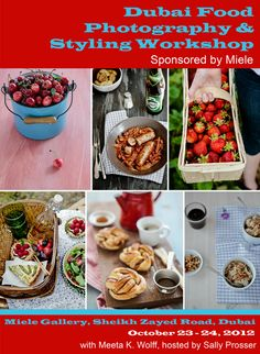Over the moon to be announcing the 2nd Dubai Food Photography & Styling Workshop in October! Registrations are now open. Secure your spot: http://www.whatsforlunchhoney.net/2012/09/workshop-miele-dubai-food-photography.html  #food #photography #styling #workshop #dubai