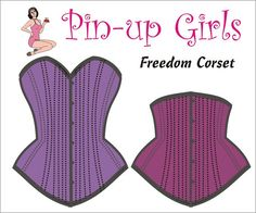 The FREEDOM Corset PATTERN  by Pinup Girls by BraMakingSupplies, $20.00