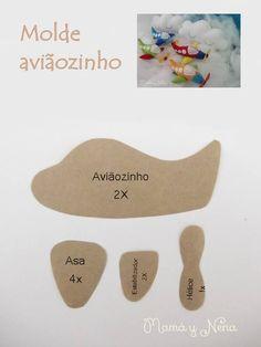ARTE COM QUIANE - Paps,Moldes,E.V.A,Feltro,Costuras,Fofuchas 3D: 7 moldes de feltro que você precisa ter aqui