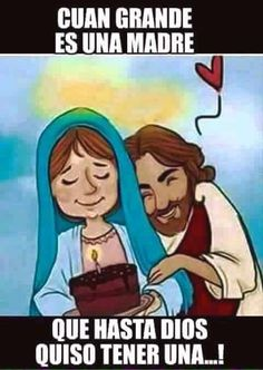 Jesus e Maria Blessed Mother Mary, Blessed Virgin Mary, Religious Images, Religious Art, Happy Birthday Mama Mary, Jesus Cartoon, Jesus E Maria, Jesus Faith, Mary And Jesus