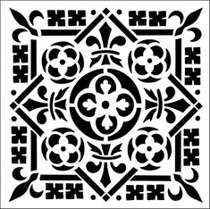 Tile No 2 stencil from The Stencil Library GOTHIC, MEDIEVAL AND TUDOR range. Buy stencils online. Stencil code GMT60.