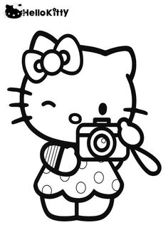 Hello Kitty Coloring Pages My World Quote Colouring Books Printable