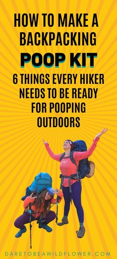 How To Make A Backpacking Poop Kit