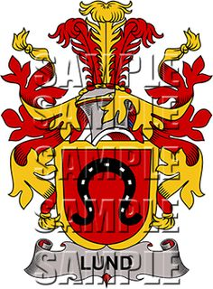 Lund Family Crest apparel, Lund Coat of Arms gifts