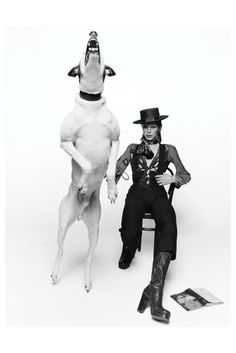 Terry O'Neill :: David Bowie and his dog Max ~ for 'Diamond Dogs' Album ~ London, 1974