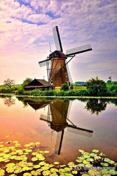 *REFLECTION's ~ WINDMILLS, KINDERDIJK HOLLAND | See More in Real WoWz