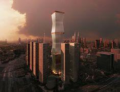 REX wraps equator tower in fully retractable brise-soleil - designboom | architecture