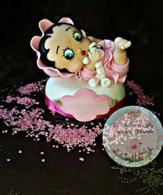 #Cake #topper #Baby #Betty #Boop #porcelana #fría