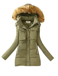 Enlishop Women's Winter Warm Thicken Fur Hooded Long Down Coat Parka Jacket Grey *** Review more details @ http://www.amazon.com/gp/product/B017KQ3F44/?tag=clothing8888-20&pef=210716222554