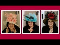 """I made Kentucky Derby hats! NOT a """"how-to""""  but some pretty ones;)  http://www.youtube.com/watch?v=oeL1YtmZ9Lk=related"""