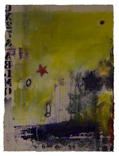 "Artist: Deb Chaney; Mixed Media 2012 Painting ""Fragments of Life #05"""