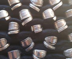 A bunch of handmade cutlery rings