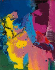 Gerhard Richter:  Sinbad, 2008, 30 cm x 24 cm Catalogue Raisonné: 905-9, Enamel on back of glass