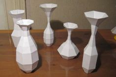 Papermau: Paper Vases With Templates And Tutorial - by Sphere360 - via Instructables