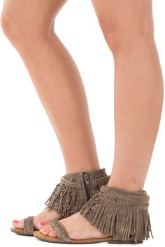 Lime Lush Boutique - Taupe Suede Sandal with Braided Fringe Overlay Detail, $89.99 (https://www.limelush.com/taupe-suede-sandal-with-braided-fringe-overlay-detail/)