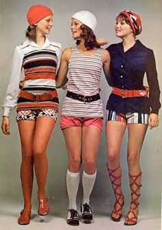 Hot Pants! Banned from school, 1972. I remember these! Daring when they came out.
