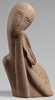 Ossip Zadkine, Buste de jeune fille - 1914 - Zadkine Research Center