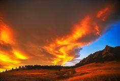 Sunrise Embrace, Boulder Colorado - the Flatirons