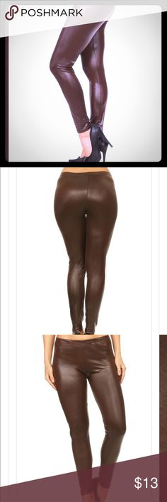 Dark Chocolate Brown Faux Leather Leggings Coming soon! In about 4-5 days :) Pants Leggings