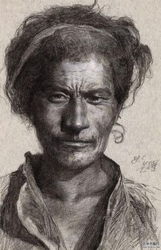 Xu MangYao (charcoal, chalk)