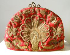 Victorian gold threaded, petit-point-embroidered tea cozy/tea cosy