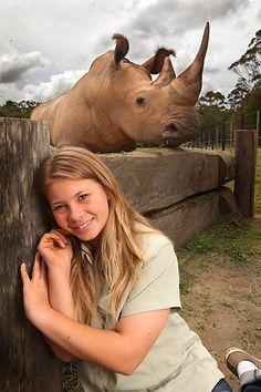 Bindi Irwin #rhinoceros #rhino #topanimals