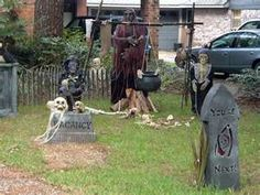 decorating your yard for halloween can be a very fun task but first you need to put together a plan for how it will look here are some outdoor halloween