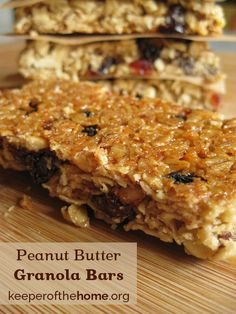 Perfect Peanut Butter Granola Bars - Keeper of the Home