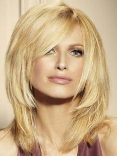 Medium Layered Blonde Human Hair Lace Front Wig