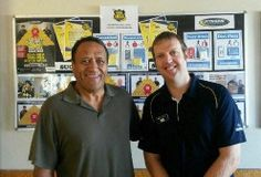 Otahuhu Member Keron lost 50kgs. He's photographed here with nutritionist David Hill.