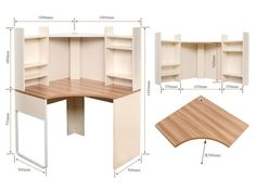 Corner Computer Desk With Shelves - Foter Computer Desk With Shelves, Desk Shelves, Corner Cabinets, Corner Desk, Bed, Furniture, Ideas, Home Decor, Corner Table