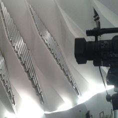 Grabando el estreno de 'Musical.IES' en el Auditorio de Tenerife.
