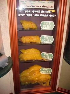 A visual guide to body fat. See what a 5lb, 10lb, 15lb and 20lb blob of fat looks like.