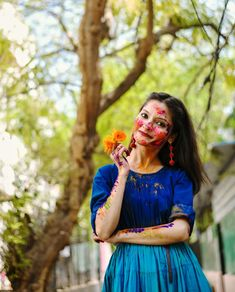Holaeverybody, I hope all of you are doing great!Festivities is around the corner and like always I took out m Holi Pictures, Girl Pictures, Holi Girls, Holi Photo, Holi Colors, School Uniform Outfits, Girl Photography Poses, Bridal Photography, All White Outfit