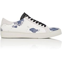 Off c/o Virgil Abloh Watercolor-Print Low-Top Sneakers-White Siz (11.165 CZK) ❤ liked on Polyvore featuring men's fashion, men's shoes, men's sneakers, white, mens leather sneakers, mens leather lace up shoes, mens low profile sneakers, mens lace up shoes and mens white sneakers