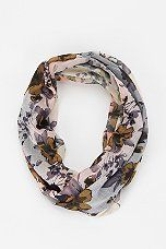 Urban Outfitters - Pins And Needles Floral Overdyed Eternity Scarf
