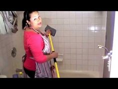 The Domestic Diva demonstrates how to clean a tub and the shower walls, using The Scum Scrubber stick. Interested in buying…
