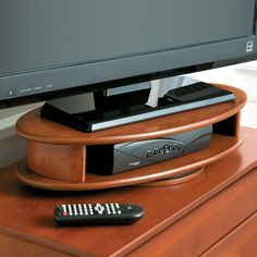 TV Swivel Stand – its oval shape makes it perfect for small spaces.