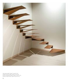 MARRETTI spiral staircase spiral stairs and banisters, staircase design production and selling,Hanging staircases Origami Hanging staircases Origami - Hanging stairs Staircase Metal, Cantilever Stairs, Stair Handrail, Spiral Staircase, Staircase Design, Stair Design, Design Design, Nest Design, Staircase Ideas